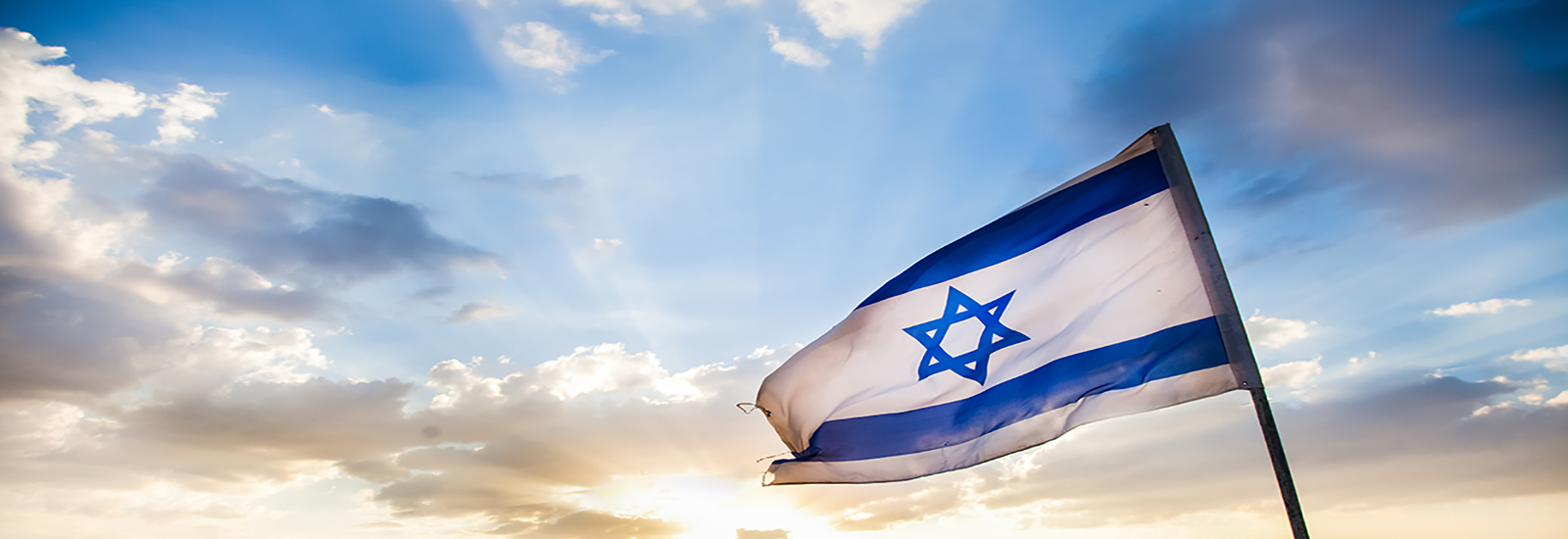 This is a stock photo. The flag of Israel.